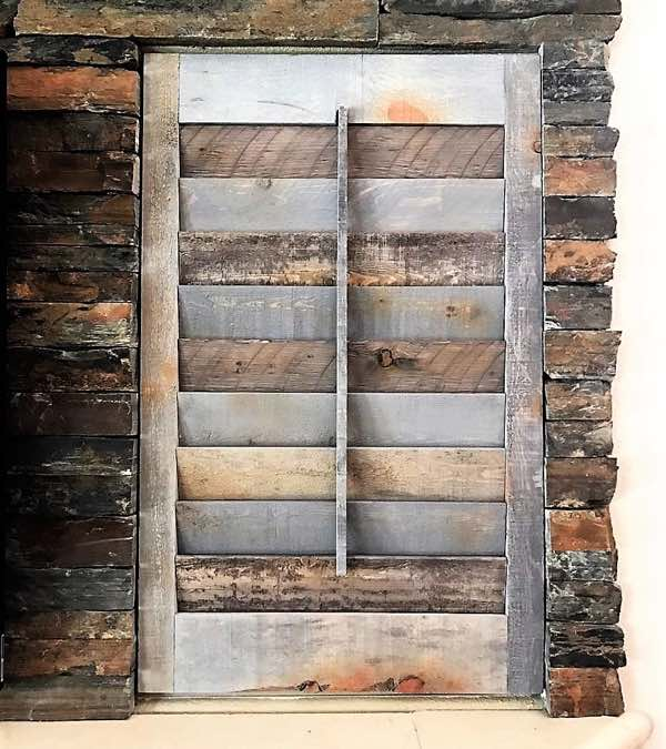 Denver reclaimed wood shutter