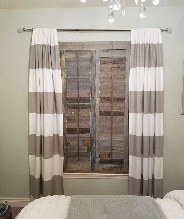 Denver reclaimed wood shutter bedroom