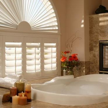 Denver bathroom privacy shutters.