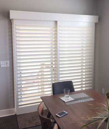 Denver chic sliding door shutters