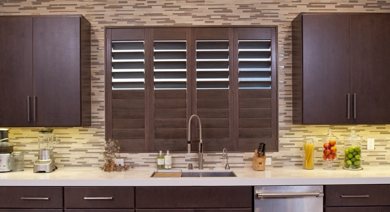 Denver cafe kitchen shutters
