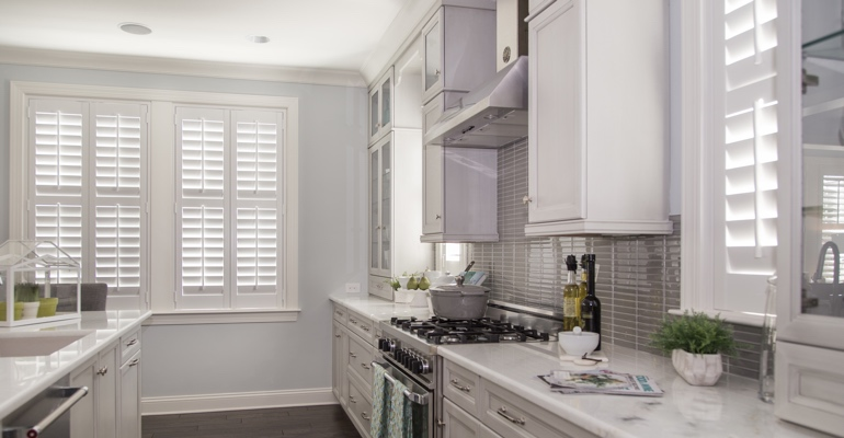 Denver kitchen white shutters