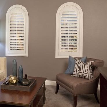 Denver family room interior shutters.
