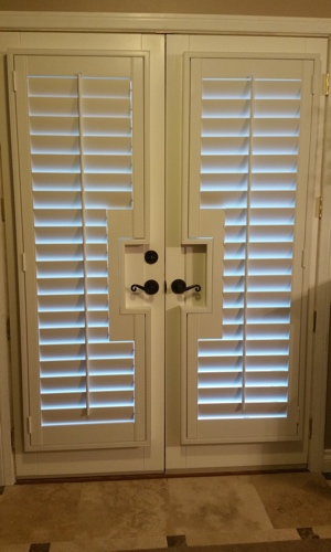 Shutters on a french door