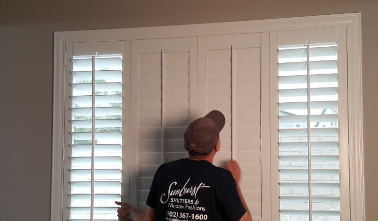 Installation of plantation shutters in Denver