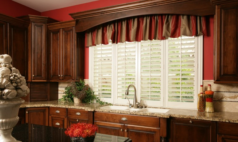 Denver kitchen shutter and cornice valance