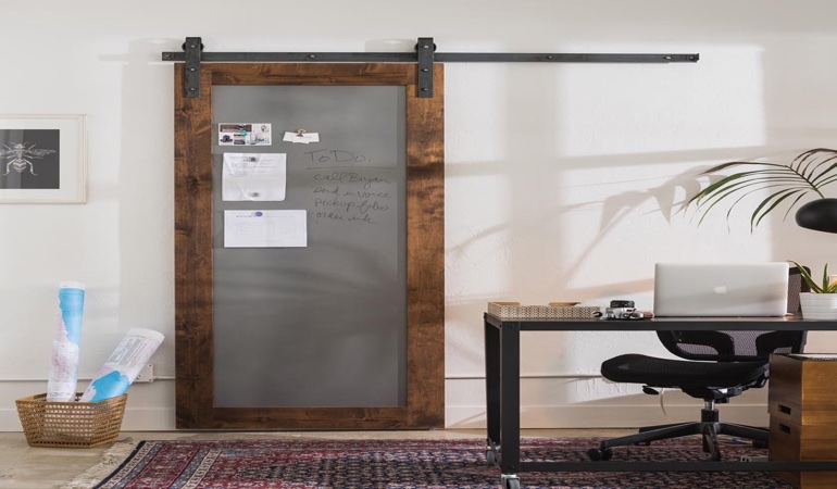 Denver home office barn door
