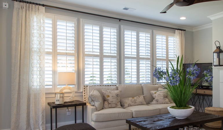 Interior Shutters in Denver Living Room