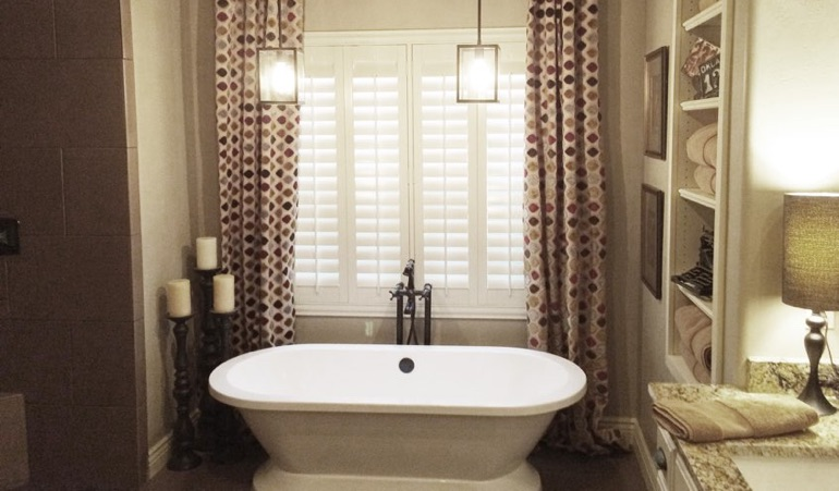 Polywood Shutters in Denver Bathroom