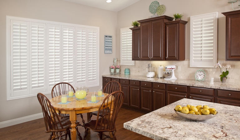 Polywood Shutters in Denver kitchen