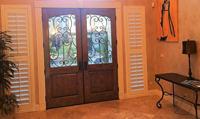 Denver foyer door with shutters