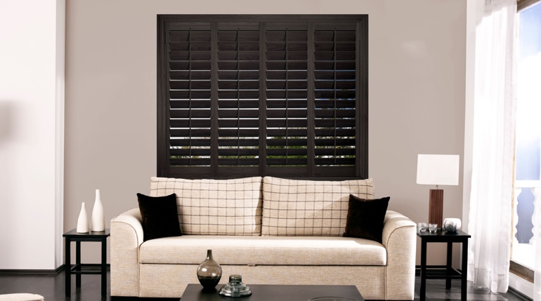 Colorado Springs sitting room with plantation shutters.