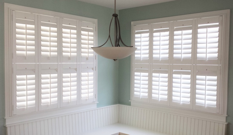 Denver plantation shutters in dining room
