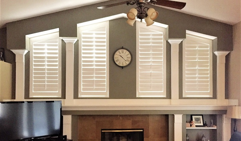 Polywood Shutters in Family Room in Denver