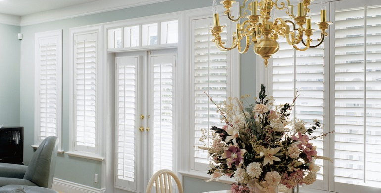 Denver sunroom polywood shutters