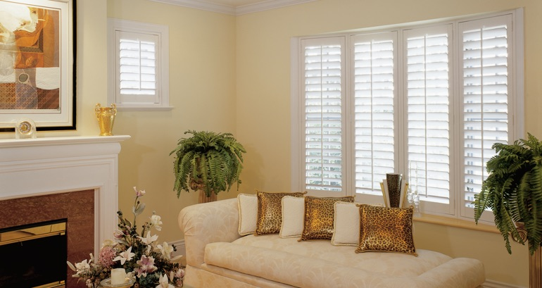 Colorado Springs living room shutters