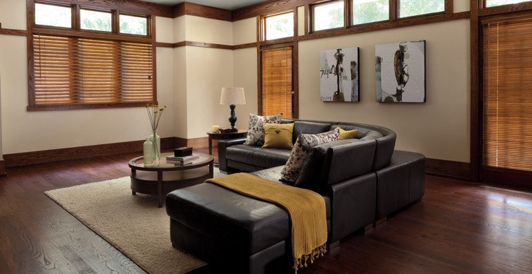Denver hardwood floor and blinds