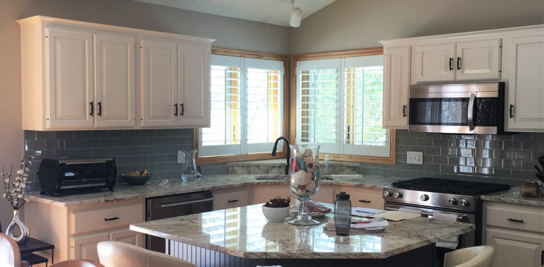 Denver kitchen with shutters and appliances
