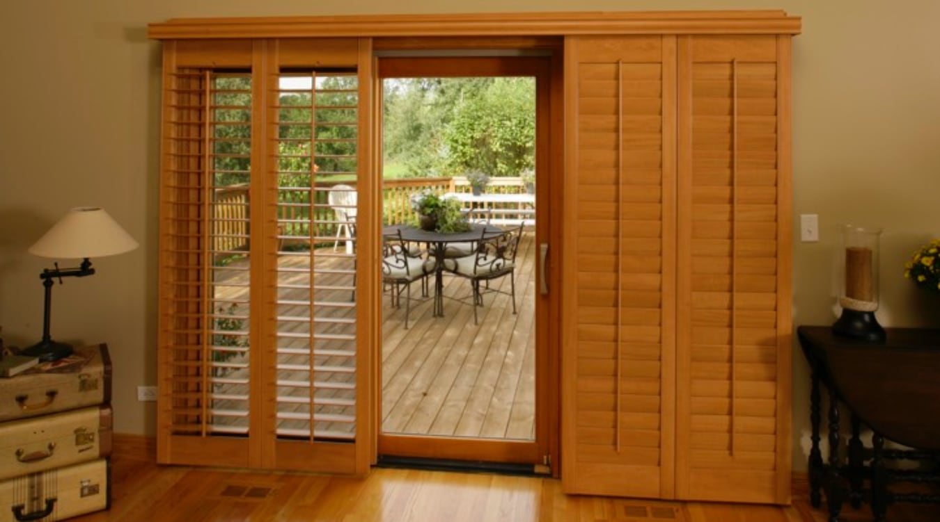Sliding Glass Door Shutter In Denver