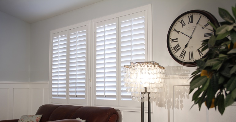 Denver living room plantation shutters