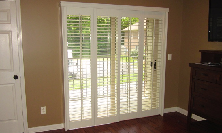 Denver sliding door bifold shutters in foyer