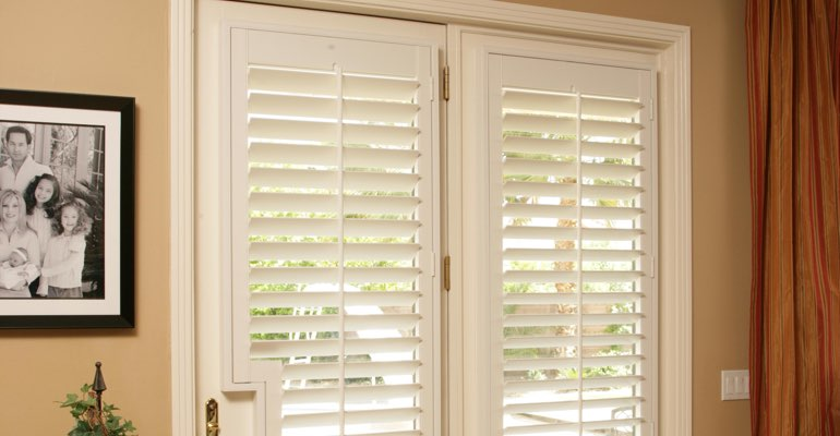 Denver french door white shutters