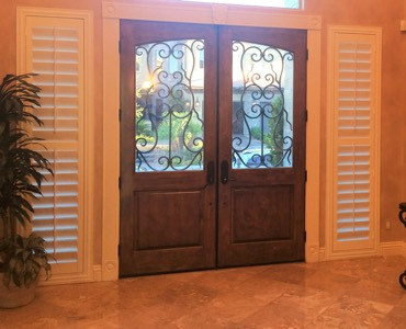 Denver sidelight window treatment shutter