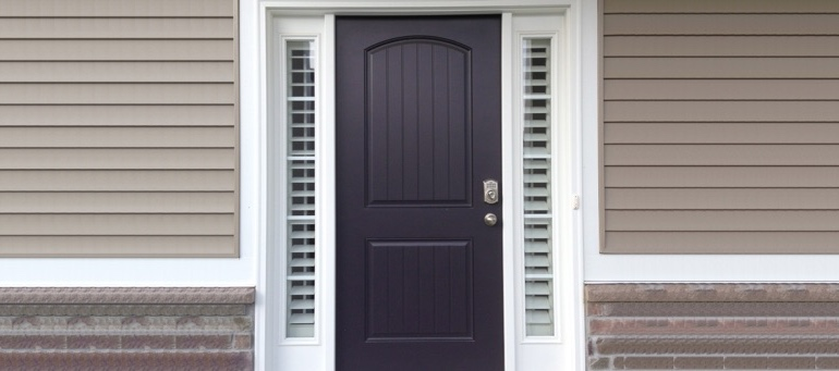Entry Door Sidelight Shutters In Denver, Colorado