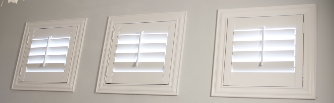 Denver casement window shutter.